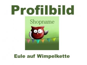 Profilbild für dein Shop auf Palundu ♡ Eule auf Wimpelkette ♡
