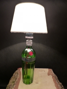 Gin Flaschen Lampe, Rohling, DIY, Upcycling, Eyecatcher, Bar, Design Tanqueray