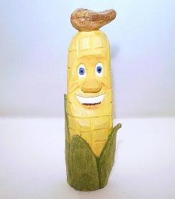 Maiskolben, hand geschnitzt und bemalt aus Lindenholz - Handarbeit kaufen