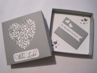 Geldgeschenk Silberhochzeit, Geldgeschenk Hochzeit - Handarbeit kaufen