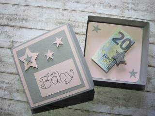 Geldgeschenk Geburt/Taufe liebevoll von Hand gefertigt - Handarbeit kaufen