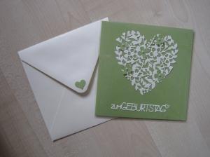 Karte Geburtstag, Geburtstagskarte,Glückwunschkarte  - Handarbeit kaufen