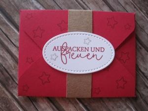 Geldgeschenk Geburtstag, Verpackung Gutscheinkarte - Handarbeit kaufen