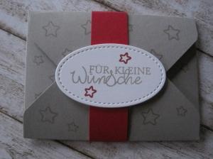 Geldgeschenk Weihnachten, Verpackung Gutscheinkarte,  Geldgeschenk Geburtstag - Handarbeit kaufen