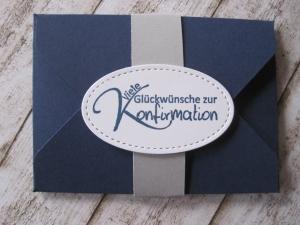 Geldgeschenk Konfirmation, Verpackung Gutscheinkarte - Handarbeit kaufen