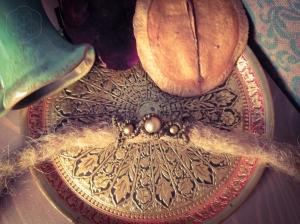 Dreadschmuck Dreadperlen mit Bronze Perlen in braun.Dreadlock Verzierung elfenhaft verspielter Dread Schmuck für Deine Goadreads als Festivalschmuck