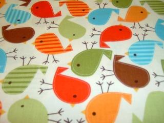 Vögel Birdy Vogel  Kaufman Baumwolle Patchworkstoff  50x110 cm