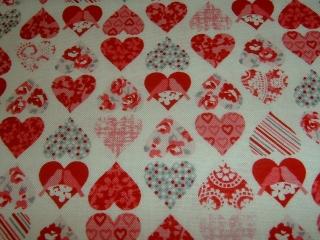 Herz Vögel Hochzeit Herzchen  Baumwolle Patchworkstoff 50x110 cm