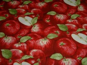 Apfel Äpfel Apple Festival  Baumwolle Patchworkstoff  Henry Glass