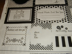Etikett Handmade Label Aufnäher  Nähen Sew  personalisiert  Baumwolle Patchworkstoff  Studio e