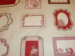 Etikett Handmade Label Aufnäher  Rosen  personalisiert  rosies Love letters Baumwolle Patchworkstoff