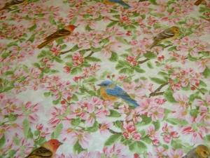 Apfelblüten Vögel Meise Apfel Äpfel Apple Festival  Baumwolle Patchworkstoff  Henry Glass