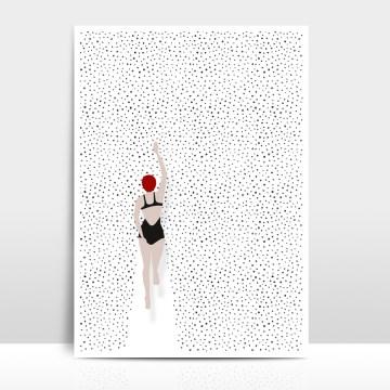 A4 Artprint Punktschwimmer