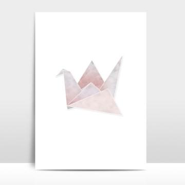 A4 Artprint Origami Kranich