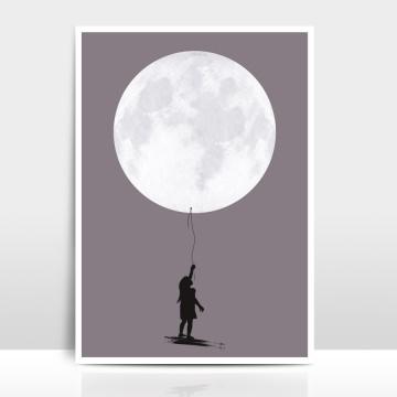 A4 Artprint Moonballoon