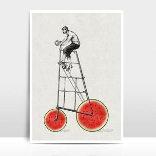 A4 Artprint Melonenradler