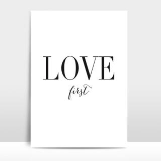 A4 Artprint Love first