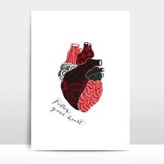 A4 Artprint Follow your heart