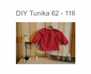 DIY 62 - 116  Tunika Schnittmuster - Ebook - Nähanleitung  Basic  Bluse