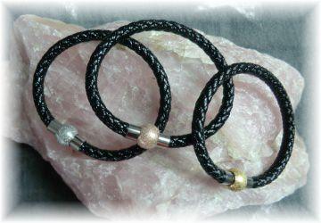 #STARDUST# handgemachtes Designer Armband  aus Leder und Edelstahl für Damen und Mädchen
