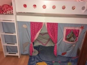 Hochbett- Vorhang, individuell genäht für dein Hochbett Fräulein Storchenbein