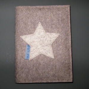 wunderschöner Kalender aus reinem Wollfilz mit Stern  DIN A 5
