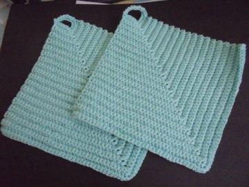 Handgefertigte Topflappen aus Baumwolle für ihre Küche oder als Dekoration-Baumwolle-Geschenk-Weihnachten-Kochen-Küche-Backen-Handgemacht-gehäkelt-Handgehäkelt