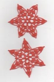 Wunderschöne 5er Set Schneesterne zum Aufhängen oder zum hinstreuen--Häkelsterne-Sterne-Häkelarbeit-Baumschmuck -Weihnachten-Advent