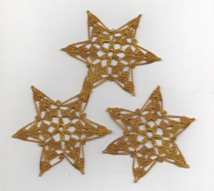 Wunderschöne 5er Set Schneesterne zum Aufhängen oder zum hinstreuen--Häkelsterne-Sterne-Häkelarbeit-Baumschmuck -Weihnachten-Advent-Aufhänger (Kopie id: 100139313)