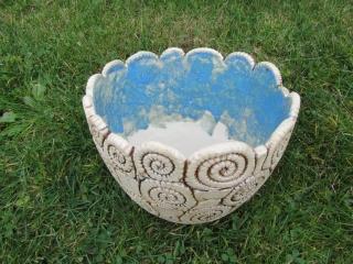 Ammoniten-Schnecken-Pflanztopf * Keramik * frostfest