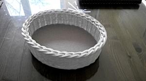 Handgeflochtener Korb oval, weiss aus Peddigrohr (Kopie id: 100161505)