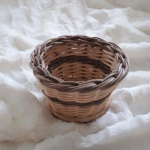 Handgeflochtener Korb, natur/antik, Durchmesser 10 cm  - Handarbeit kaufen