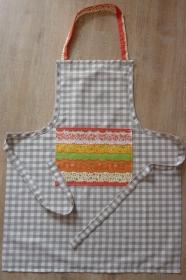 Kochschürze genäht aus Baumwollstoffen kaufen ~ Backschürze ~ Schürze für die Küche ~ Kochutensil