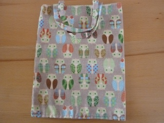 Kindertasche genäht aus Baumwollstoffen * Stoffbeutel * Einkaufstasche * Wendetasche ~ Eulen~Eulen