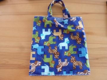 Kindertasche genäht aus Baumwollstoffen kaufen * Stoffbeutel * Einkaufstasche * Wendetasche ~ Pferdchen - Handarbeit kaufen