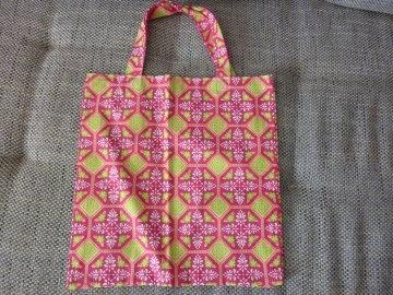 Tasche ~ genähte Einkaufstasche, retro aus Baumwollstoffen kaufen ~ Stoffbeutel ~ gemustert und geblümt