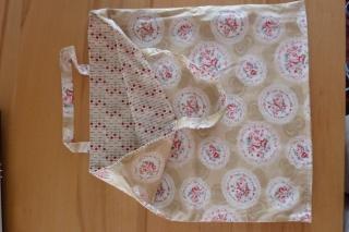 Einkaufstasche oder Stoffbeutel  aus Baumwollstoffen genäht kaufen ~*~ romantischer Shopper/Wendetasche - Handarbeit kaufen