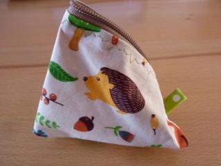 Dreiecktäschchen genäht aus Baumwollstoffen und Wachstuch kaufen ~ Portemonnaie für Kinder ~ Stauraum für Kleinigkeiten - Handarbeit kaufen