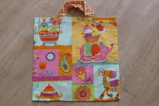 Kindertasche Zirkus ~ *~ Einkaufstasche oder Kindergartentasche aus Baumwollstoff genäht kaufen ~