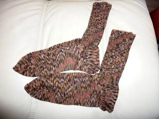 Socken ~ Strümpfe handgestrickt aus Schurwolle in brau meliert kaufen~ Kuschelsocken ~ warme Füße