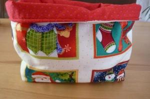Utensilo genäht aus Baumwollsstoffen mit Weihnachtsmotiven kaufen* Advent * Aufbewahrungskorb  * Körbchen