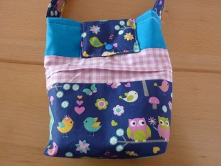 Kindertasche  genäht aus Baumwollstoffen kaufen ~*~  Kindergartentasche  ~*~ Umhängetasche mit Eulenmotiv - Handarbeit kaufen