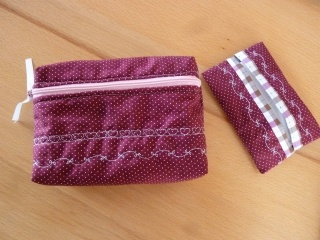 Taschentücher Tasche  * TaTüTa *  Kosmetiktäschchen aus Baumwollstoffen genäht kaufen ~ griffbereite Taschentücher ~Schmuckaufbewahrung