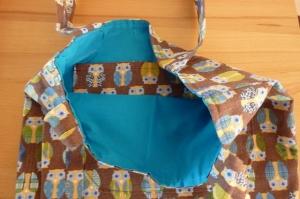 Tasche /Umhängetasche ~*~ Schultertasche genäht aus Baumwollstoffen, mit Eulen kaufen ~ Shopper~ - Handarbeit kaufen