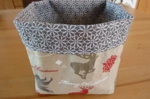 Utensilo * Aufbewahrungskorb aus Baumwollstoffen genäht kaufen * Körbchen ~ Weihnachts- Winterzeit   - Handarbeit kaufen