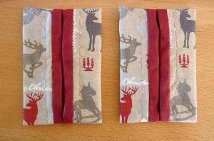 Taschentücher Taschen (Set), genäht aus Baumwollstoff * TaTüTa* Kosmetiktäschchen ~ griffbereite Taschentücher
