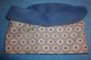 Genähter Schlauchschal mit Sternen und Fleece, schön kuschelig in beige - blau kaufen