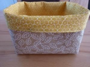 Utensilo ~* ~Aufbewahrungskorb in beige - goldgelb kaufen  * Körbchen, genäht aus Stoff für die Küche, das Esszimmer kaufen - Handarbeit kaufen