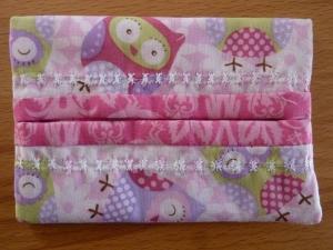 Taschentücher Tasche genäht aus Baumwollstoffen mit Eulen kaufen * TaTüTa* Kosmetiktäschchen ~ griffbereite Taschentücher  - Handarbeit kaufen