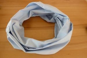 Schlauchschal ~ Loop ~  genäht aus Baumwollstoffen in hellblau kaufen ~ Wendeschal ~ Herbst/Frühjahr  - Handarbeit kaufen